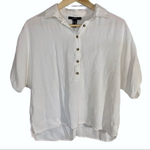 Forever 21 half button up blouse